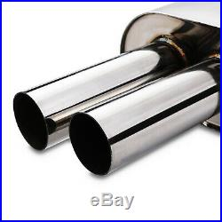 2.5 Stainless Steel Race Exhaust System Backbox For Bmw 3 Series E36 3.0 3.2 M3
