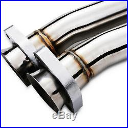 2 STAINLESS EXHAUST REAR BACK BOX SYSTEM FOR BMW E30 3 SERIES 320i 325i 325ix