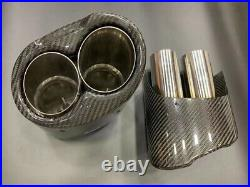2pcs Real Carbon Fiber Exhaust Muffler for Audi S RS Series WO