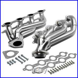 2x Stainless Steel High Flow Exhaust Header Manifold For 00-14 Chevy Silverado
