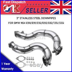 3''V-Band Exhaust Downpipes Decat Pipe For BMW 3 SERIES N54 E82 E90 E92 E9