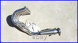 B Series 3 Outlet Header For Honda Acura Gsr 4-1 B16 B18 B20 With Megaphone
