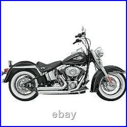 Bassani Chrome Firepower Series FireSweep Exhaust System for Softail 86-17