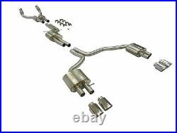 Becker Cat Back Exhaust System for 2012 through 2019 Audi S6 S7 C7 Series 4.0L 8
