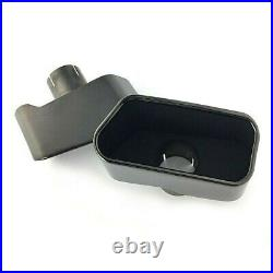 Black Square Exhaust Muffler Tips Pipe End Cover For BMW 5 Series F10 F11 F18
