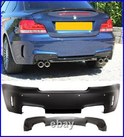 Bmw 1 series E82 E88 1m Style look rear bumper for quad exhaust with PDC holes