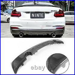 CARBON LOOK For BMW 2 Series F22 F23 Rear Diffuser M Sport M240i Dual Exhaust