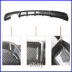CARBON LOOK Rear Diffuser Lip For 13-18 BMW 3Series M F30 F31 Sport Twin Exhaust