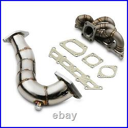 DIRENZA 3mm TRACK SERIES EXHAUST MANIFOLD & DOWNPIPE FOR FIAT 500 ABARTH 1.4