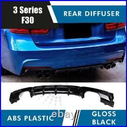 DOUBLE TWIN EXHAUST REAR BUMPER DIFFUSER for BMW F30 F31 3 SERIES M PERFORMANCE