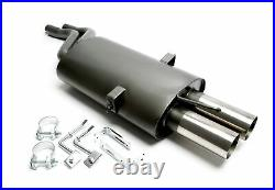 Exhaust 0 3/32x2.99in Sharp For BMW E46 320 323 325 328 330 Year 01-05 + ABE