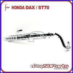 Exhaust Muffler Assy Silver Chromed Pipe & Protector for Honda Dax ST-Series
