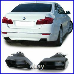 Exhaust tail pipes tips in black for BMW 5-series F10 F11 6-series F12 F13