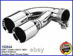 Exhaust tips dual tailpipe trims for BMW 1 series F20 F21 M Performance 152644
