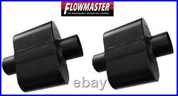 Flowmaster Super 10 Series Chambered Muffler Pair Oval 3 Center In / Out 843015