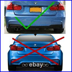 For 2012-2018 BMW F30 F31 M STYLE Black Left Single Exhaust Rear Bumper Diffuser