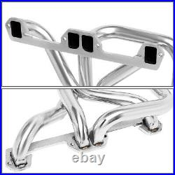 For 72-91 Dodge D/w-series Pair 4-1 Long Tube Exhaust Header Manifold+collector