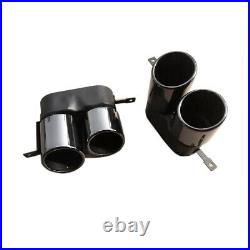 For BMW 3-Series G20 G28 M-Sport Steel Black Rear Exhaust Tail Pipes Muffler Tip