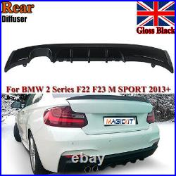 For Bmw Diffuser Rear F22 2 Series M Sport Performance Twin Exhaust Rear Bumper