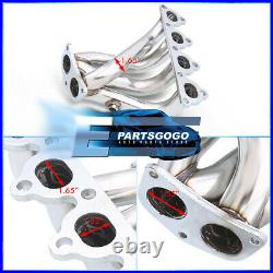 For Civic/Crx/Del Sol D-Series L4 SOHC Exhaust Manifold Stainless 4-2-1 Header