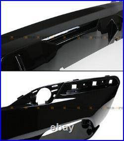 Glossy Black M Performance Style Rear Bumper Diffuser For 2017-19 BMW G30 M550i