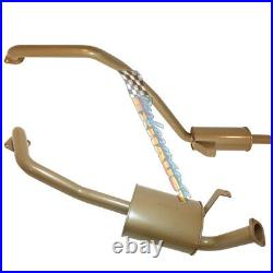 KING BROWN STAINLESS 2.5 EXHAUST For TOYOTA LANDCRUISER 80 SERIES 4.5LT PETROL