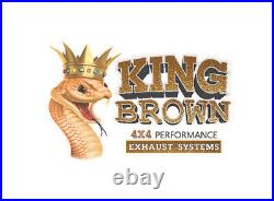KING BROWN Twin 3 Cat Back Exhaust For Toyota Landcruiser 200 Series VDJ200 4.5