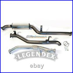LEGENDEX 3 STAINLESS EXHAUST For TOYOTA LANDCRUISER 79 SERIES DUAL CAB 4.5L V8