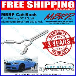 MBRP STREET Aluminized 3 Cat-Back for 2015-2017 Mustang GT 5.0L Coupe S7277AL