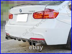 P Stye Carbon Fiber Rear Diffuser (Quad Tips) For 12-17 BMW F30 3-Series M-Sport