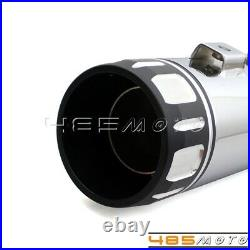 Pair 4 in Roaring Series Slip-On Mufflers Exhaust Pipes for 95-17 Harley Touring