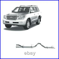 REDBACK DPF BACK TWIN 3 EXHAUST PIPE ONLY For TOYOTA LANDCRUISER 200 SERIES 4.5