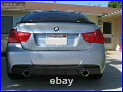 Rear Bumper Diffuser And Tail Pipes Combo For Bmw 3 Series E90 E91 Dual Exhaust
