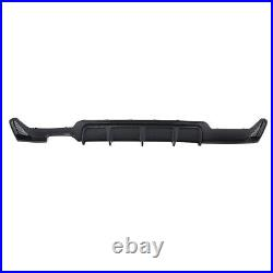 Rear Bumper Diffuser Twin Exhaust Pipe For BMW 4 Series F32 2014+19 Carbon Style