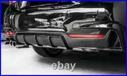 Rear Bumper Diffuser Twin Exhaust Pipe For BMW 4 Series F32 2014+ Carbon Fiber N