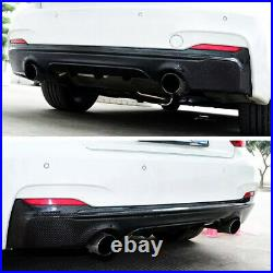 Rear Diffuser Dual Exhaust Lip For BMW 2015-2019 2Series F22 M Sport Carbon Look