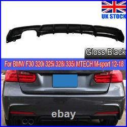 Rear Diffuser For Bmw F30 3 Series M Sport Performance Twin Exhaust Rear Bumper