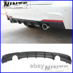 Rear Lip Diffuser For 12-18 Bmw F30 F31 3series M Sport Performance Twin Exhaust