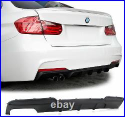 Rear bumper diffuser insert spoiler with left exhaust FOR BMW 5 series F10 Sedan
