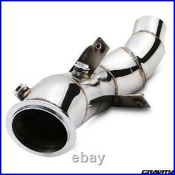 STAINLESS EXHAUST RACE DE CAT DECAT PIPE FOR BMW 3 SERIES F30 F31 F35 320i 328