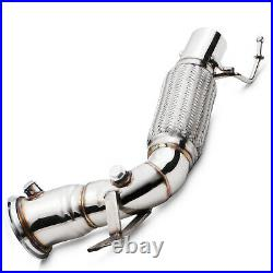 STAINLESS SPORT RACE EXHAUST DE CAT DECAT PIPE FOR BMW 1 SERIES F40 M135ix 19