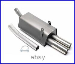 Sport Exhaust For BMW 3er E36 6-Zyl. 320i+323i 0 3/32x2.99in + ABE