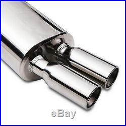 Stainless Rear Silencer Exhaust System Back Box For Bmw 3 Series E30 320 325 New