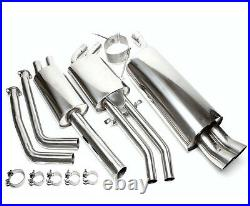 TA STAINLESS sports exhaust system FOR BMW 3 Series E46 320i 330i 00-04 2 x 76mm